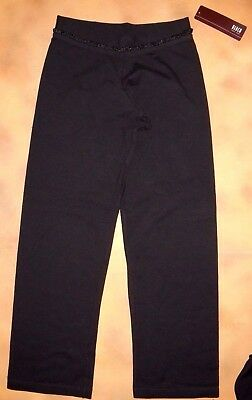 NWT Dance Bloch Black V Front Frill Waist Band Pants Cotton Small Child CP5353