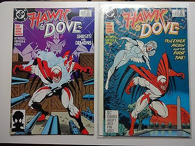 Hawk and Dove   Lot of 6   (Various Numbers)   High Grade VF/NM to NM-