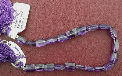21 Faceted Natural Rectangle Shape Amethyst Beads