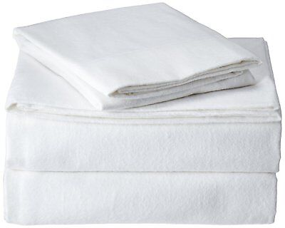 The Seasons Collection (2) Heavyweight Flannel Standard Pillowcase, White