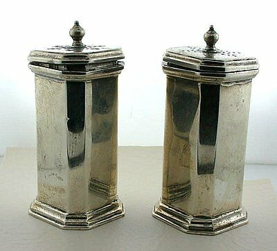 ANTIQUE 1880's SET OF STERLING SILVER SALT AND PEPPER SHAKER Samuel Watton Smith