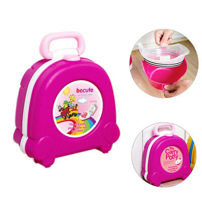 Baby Girl Pink Portable Traveling Car Squatty Potty Outdoor Camping Trainer Seat