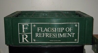 (1) 1960/70s Flagship of Refreshment Akron Ohio 12 slot  ACL Soda Bottle Crate