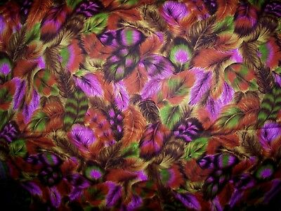 """ALLOVER FEATHER DESIGN COTTON QUILT FABRIC - 46"""" x 44"""""""