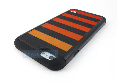 Orange Black Stripes Fabric Hybrid Shock Case Cover Apple Iphone 6 6S Plus 5.5""