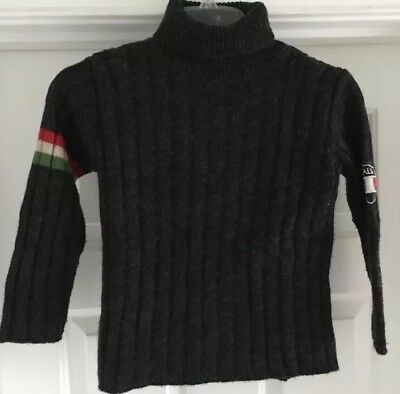 Boys Bouling Italia Wool Blend Turtleneck Sz 5-M Made In Italy