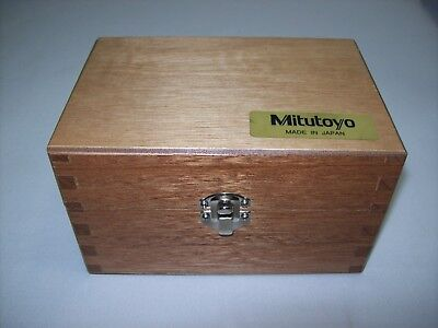 New Mitutoyo Model 153-302 Micrometer Head Mahogany Case Only - Free Shipping