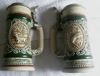Avon Imported Brazilian Beer Steins Pair 1978, Numbered, Good Shape, Over 35 Y/o