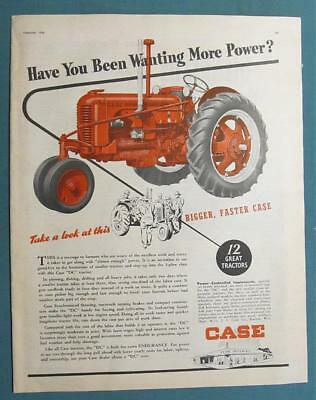 Original 1946 Case DC Tractor Ad HAVE YOU BEEN WANTING MORE POWER? 10x14