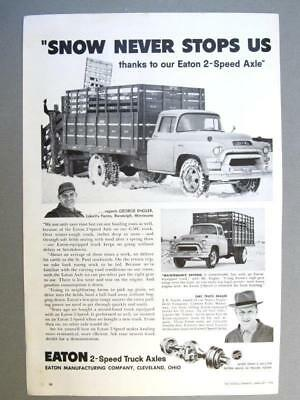 Datd Original 1958 Eaton Axle Ad Photo Endorsed George Engler Randolph Minnesota