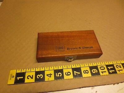 BS Brown & Sharpe Micrometer; BOX ONLY, wood, wooden