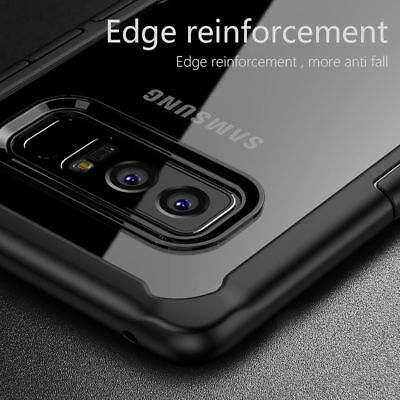 For Samsung Galaxy Note 8 S8 Plus Shockproof Hybrid TPU Clear Hard Case Cover