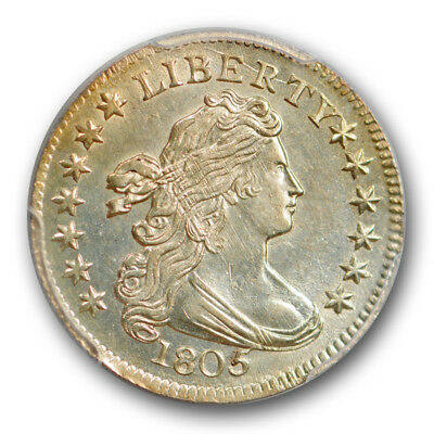 1805 10C 4 Berries JR-2 Draped Bust Dime PCGS MS 63 Exceptional Blazing Coin
