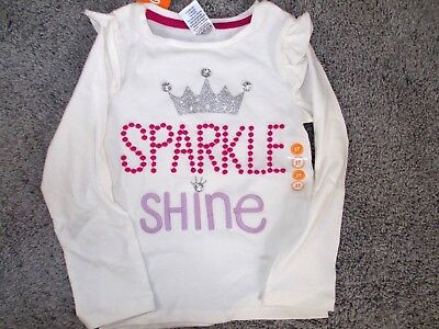 NWT Gymboree Toddler Girls 3T Ivory SPARKLE SHINE Princess shirt COMBINE S/H!