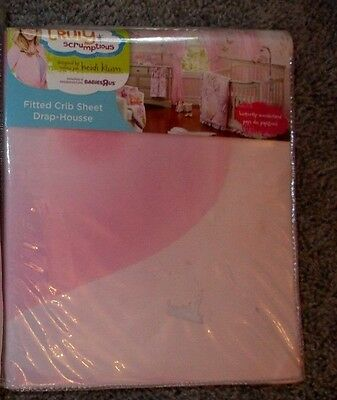 NEW NIP Heidi Klum BEAUTIFUL CRIB OR TOODLER BED Butterfly bedding fitted SHEET
