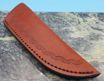 """Leather Belt Sheath for up to 4-5.5"""" fixed blade blade Knife"""