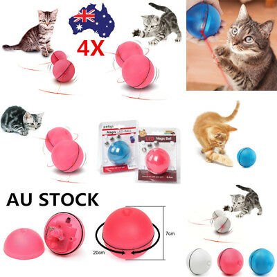 Pet Cat LED Laser Light Electronic Rolling Ball Interactive Teaser Exercise Toys