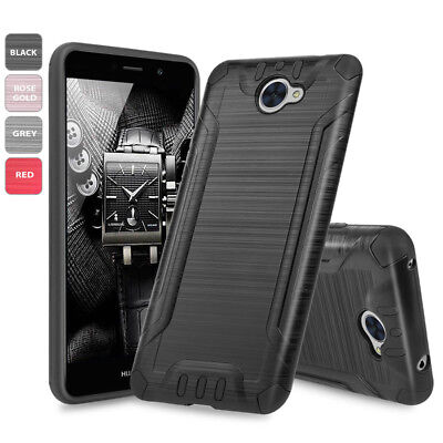 For Huawei Ascend XT2/Elate 4G Tough Brushed Hybrid Shockproof Cover Phone Case