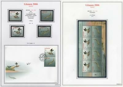 LITHUANIA 2006 MNH/USED-CTO/FDC SG892-93 Endangered Species