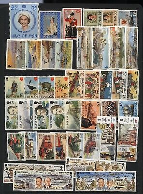 Isle of Man Collection 49 Stamps Unmounted Mint