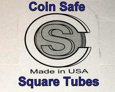 You Pick-Assorted Sizes COIN SAFE SQUARE TUBES 100 Made in USA One Hundred