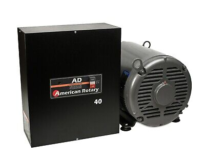 Heavy Duty Rotary Phase Converter AD40 - 40 HP Digital Controls CNC Made in USA