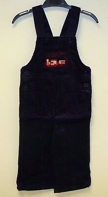 VINTAGE 1980's UNWORN BOYS TRAIN EMBROIDERED CORDUROY DUNGAREES AGE 6 MONTHS