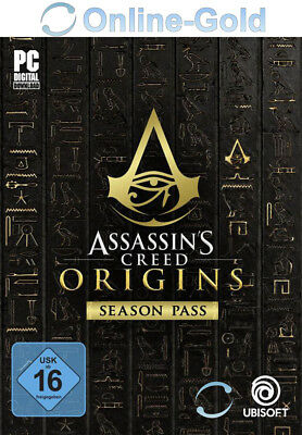 Assassin's Creed Origins Season Pass - PC Game Key Uplay Digital Code DLC EU/DE