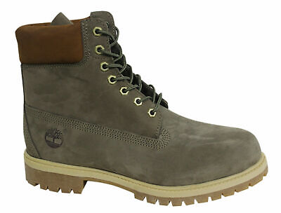 Timberland 6 Inch Premium Lace Up Mens Olive Nubuck Leather Boots A1LXJ T7