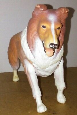 Vintage Gabriel LASSIE Jointed Pose-able Toy Dog 1976 Collie Classic TV Show