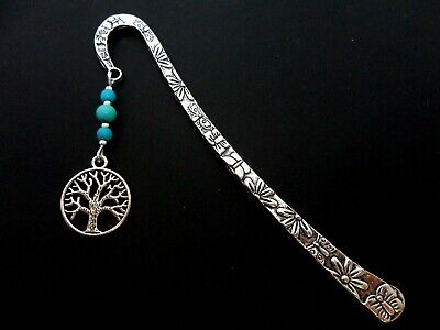 A Tibetan Silver  Tree Of Life  Charm & Turquoise Bead  Bookmark. New.
