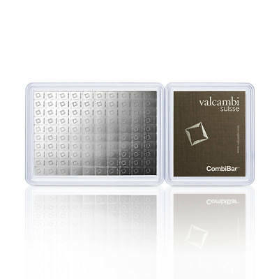 Valcambi 100x 1 gram Silver CombiBar™ with Assay Card (3.215 oz)