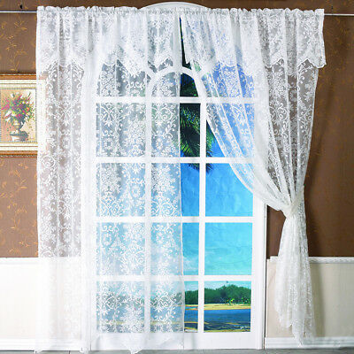 White Summer Jacquard Pattern Beautiful Window Curtain Living Room Bedroom Decor