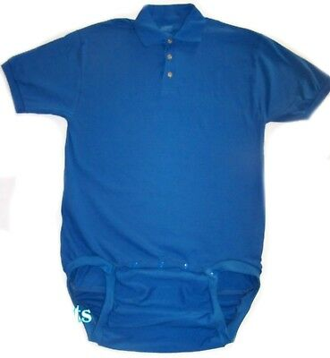 adult WEAR2WORK 4 colors POLO bodysuit OneSuit  incontinence