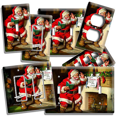 Vintage Santa Claus Christmas Light Switch Outlet Wall Plate Home New Room Decor
