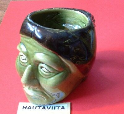 Native Indian Warrior Head Pottery Toby Jug Drinking Mug Canada 1960s Medalta
