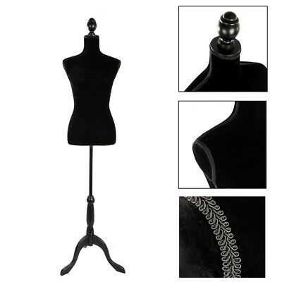 Black Female Mannequin Torso Clothing Display W/ Black Tripod Stand New Style