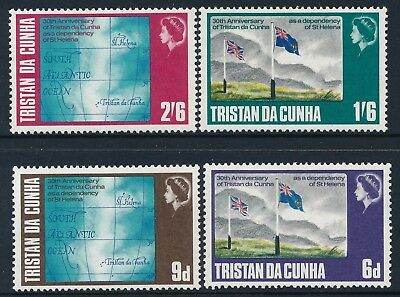 1968 Tristan Da Cunha Dependency Anniversary Set Of 4 Fine Mint Mnh