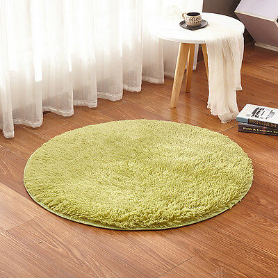 2 Size Non-slip Absorbent Memory Foam Bath Bedroom Floor Shower Round Mat Rug