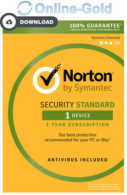 Norton (Internet) Security 2018 - 1 utilisateur / 1 an clé d'activation - EU/FR