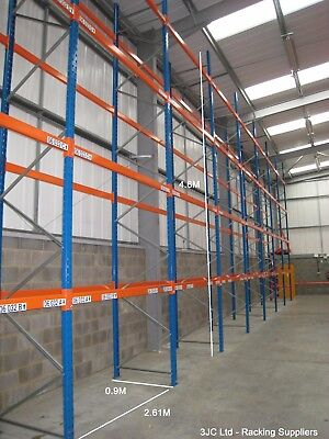 5 Bays Dexion Speedlock Warehouse Pallet Racking 4.6M Tall x 2.61M Bays
