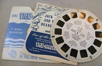 Vintage Viewmaster - Sawyer's Single Reel FT-3 Jack and The Beanstalk - C1951