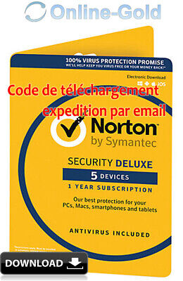 Norton (Internet) Security 2018 - 5 utilisateurs / 1 an clé d'activation - EU/FR