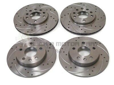 VAUXHALL ASTRA H MK5 1.9 CDTi 120 150 SRi FRONT REAR DRILLED GROOVED BRAKE DISCS