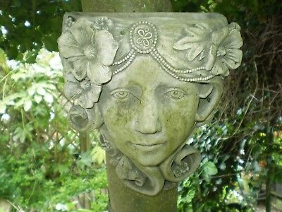 Architectural Salvage Vintage French Lady Garden Wall Planter,reclamation