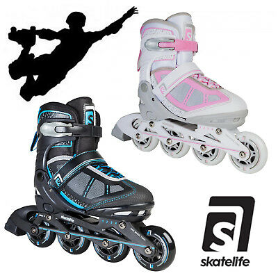 Skatelife Lava Adjustable Inline Skates Abec 7 Adults Kids Roller Skates Unisex