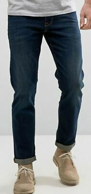 """Men`s New NEXT Classic Fit Straight Leg Jeans Button Fly Waist Sizes 32"""" to 42"""""""