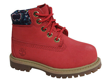 Timberland Earthkeepers 6 Inch Premium Youth Lace Up Pink Boots A1GRT D38