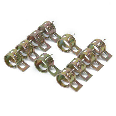 10 x Spring Clip Fuel Hose Line Water Pipe Air Tube Clamps Fastener Dia.10mm