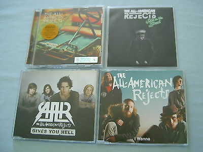 THE ALL-AMERICAN REJECTS job lot of 4 CD/promo CDs Gives You Hell I Wanna